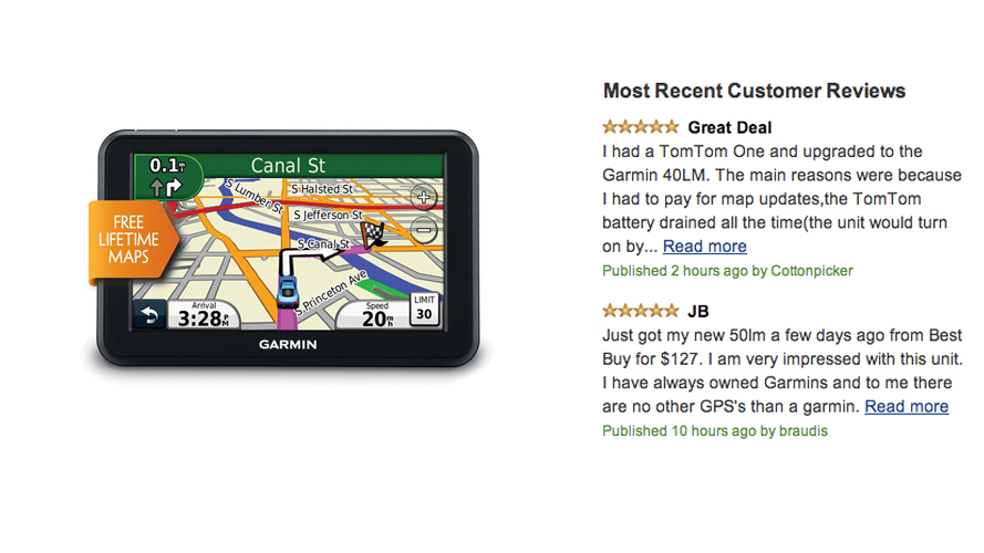 Garmin nüvi 50LM 5-Inch Portable GPS Navigator with Lifetime U.S. Maps Review