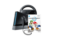 Nintendo Black Wii Console With Mario Kart Bundle