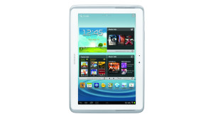 The white Samsung Galaxy Note 10.1